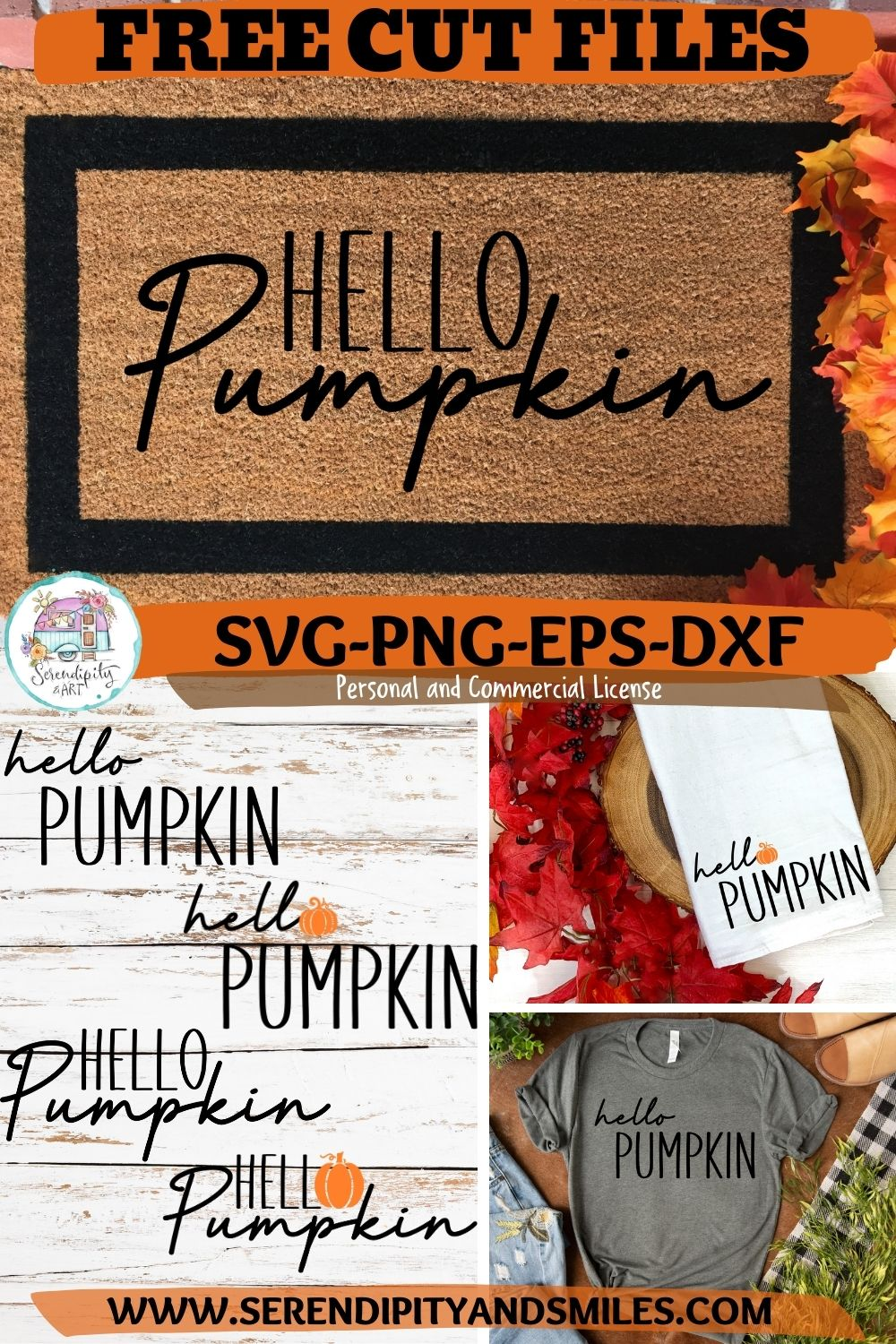 FREE HELLO PUMPKIN CUT FILES and DIY Welcome Mat Tutorial