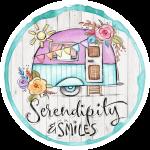 Serendipity and Smiles Logo White Wood Circle