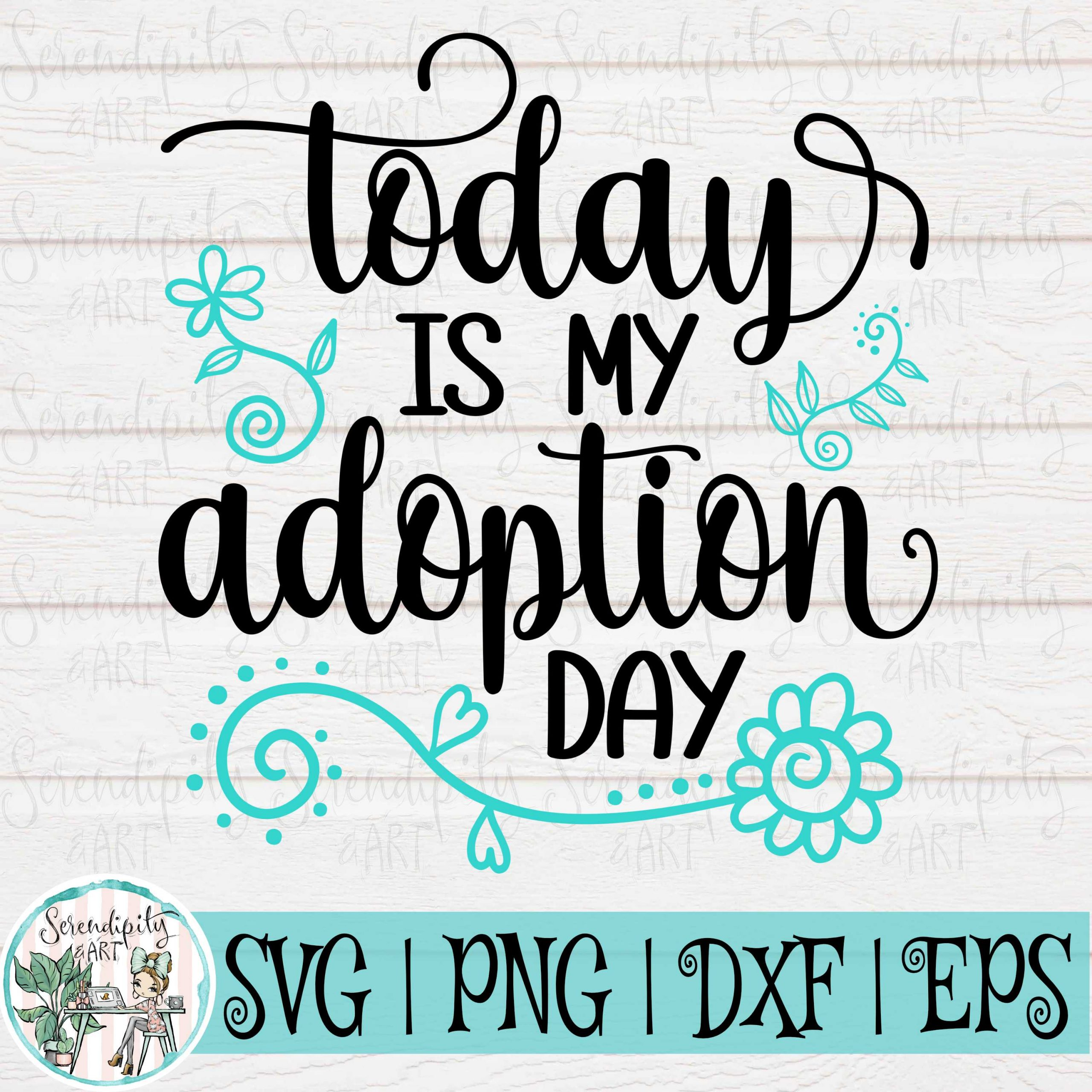 Today is My Adoption Day Mockup Square