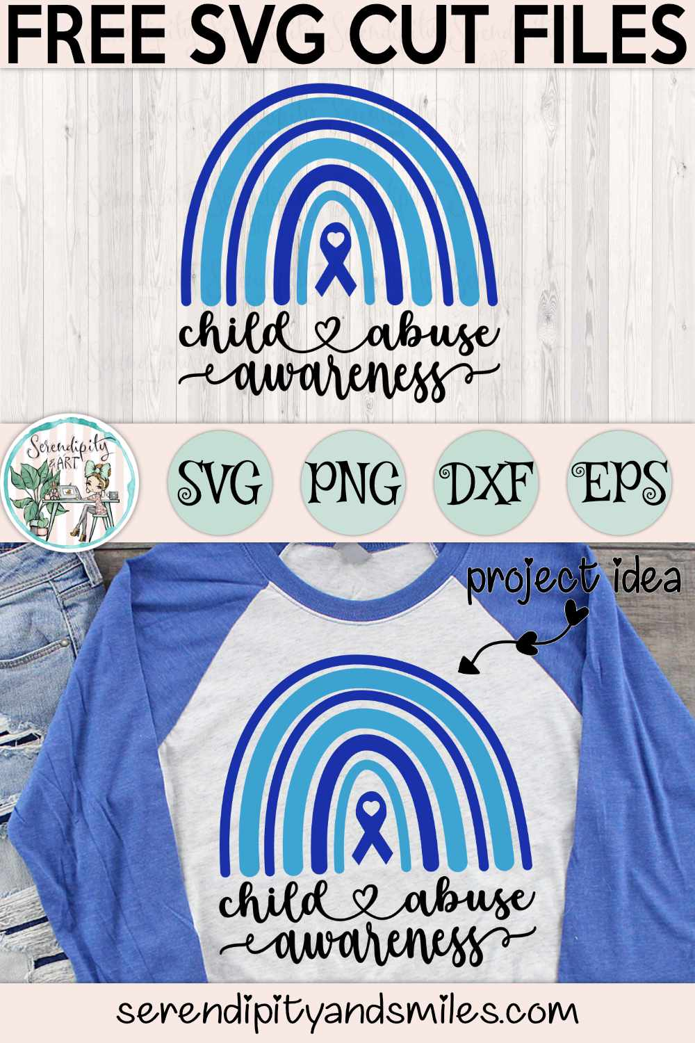 Child Abuse Awareness Rainbow - Cut Files