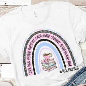 Teacher Life Books Rainbow Mockup 2