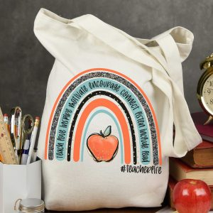 Teacher Life Red Apple Rainbow Mockup 1