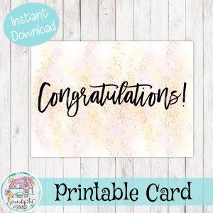 5×7-Congratulations-Card-Pink-Gold-Mockup 1