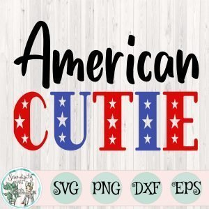 American Cutie SVG Mockup Square