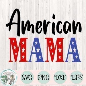 American Mama SVG Mockup Square