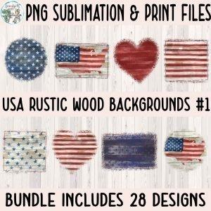 USA Rustic Wood BG Mockup Square