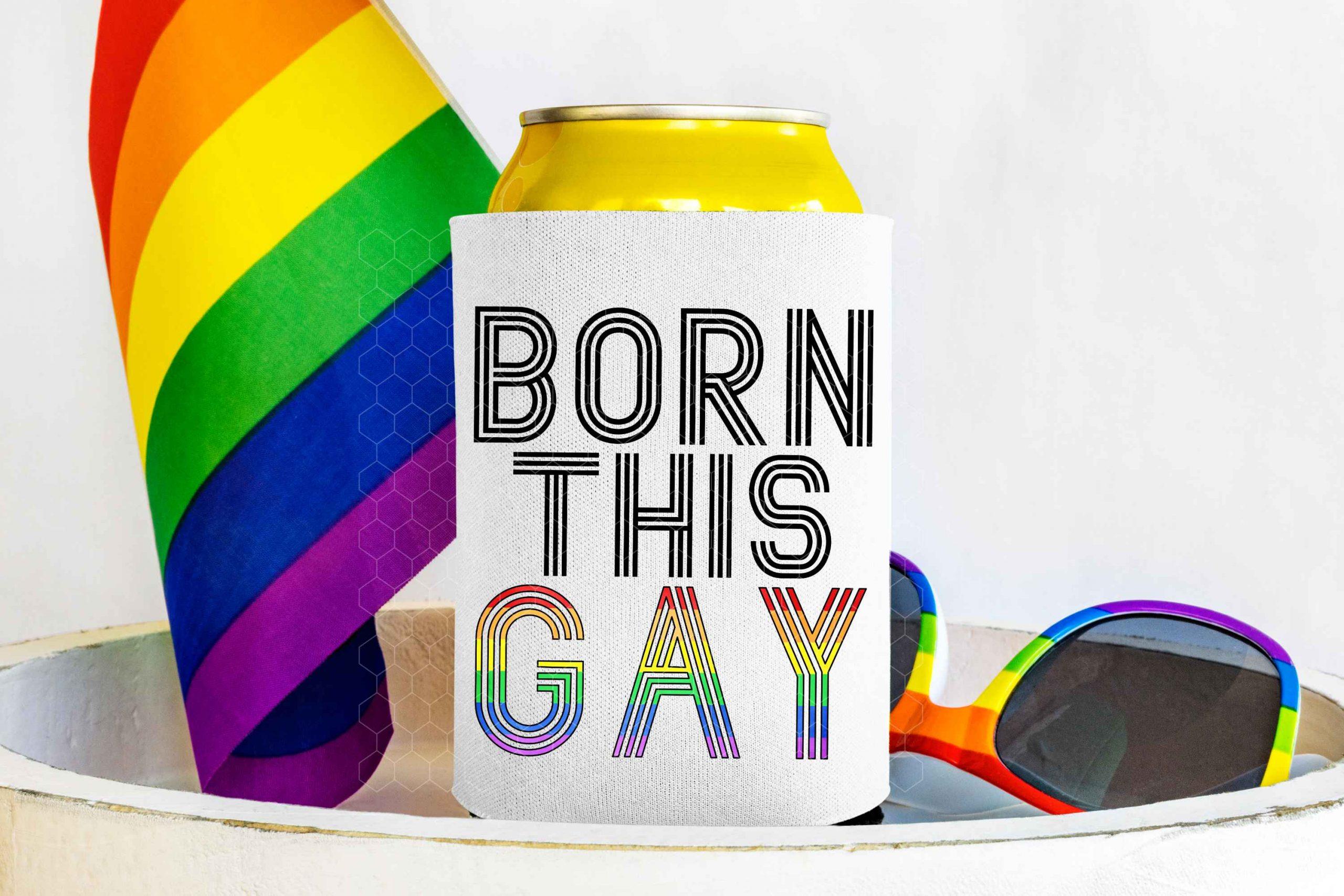 Born This Gay Mockup 2