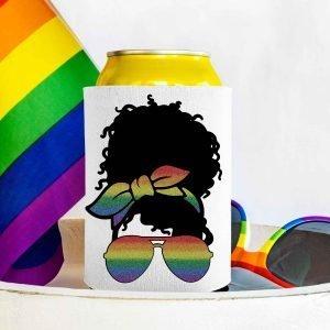 Glitter Rainbow Curly Messy Bun Mockup 3
