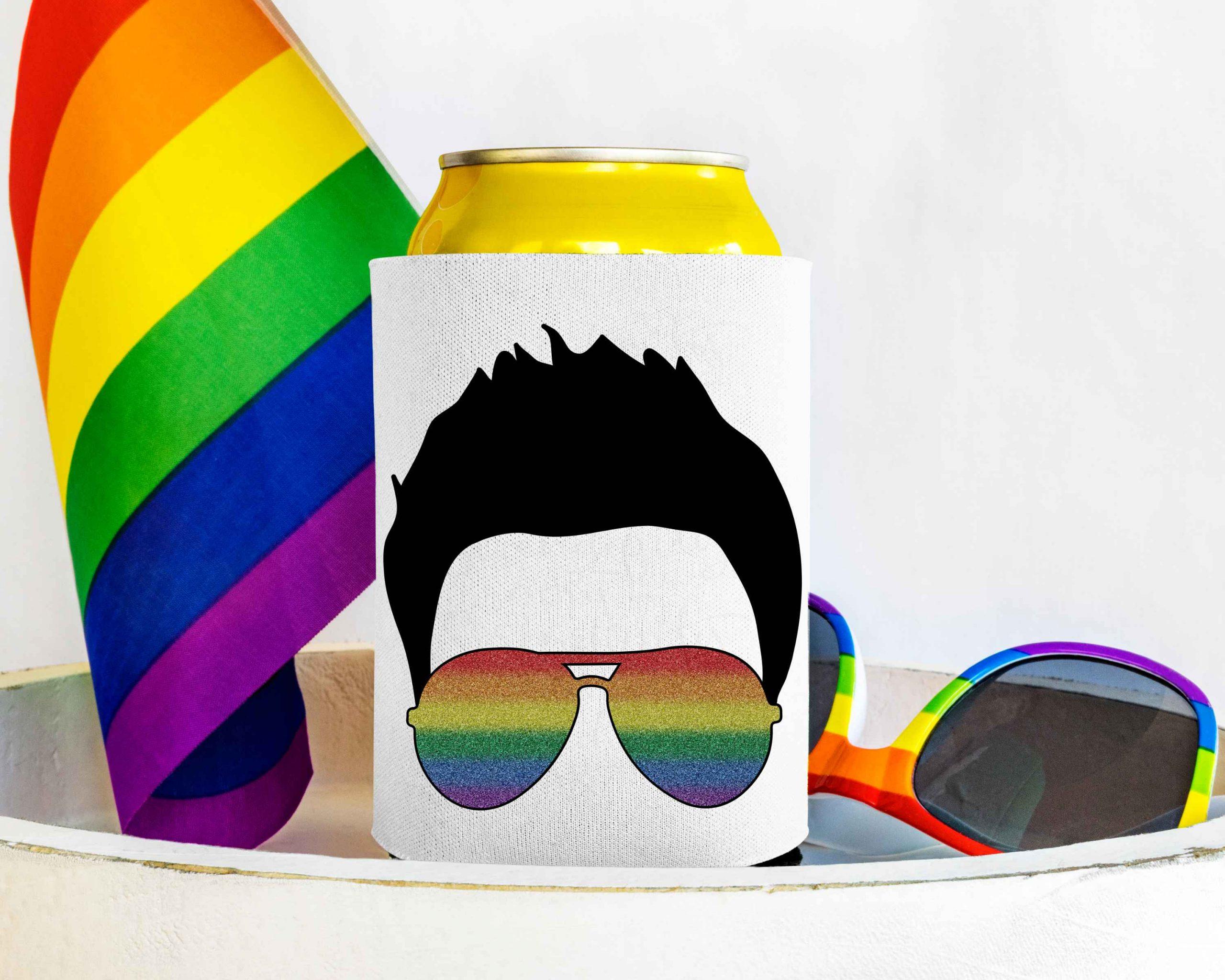Glitter Rainbow Faux Hawk Mockup 3