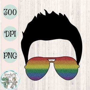 Glitter Rainbow Faux Hawk Mockup Square
