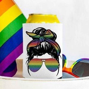 Glitter Rainbow Messy Bun Mockup 3