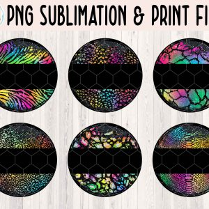 Grunge Circle Animal Print Bundle 1 Mockup Etsy 2