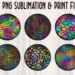 Grunge Circle Animal Print Bundle 1 Mockup Etsy 3