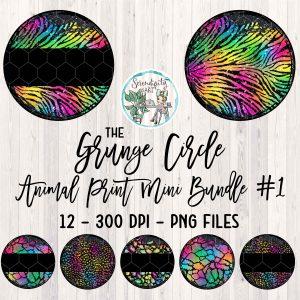 Grunge Circle Animal Print Bundle 1 Mockup Square