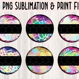 Grunge Circle Animal Print Bundle 2 Mockup Etsy 2