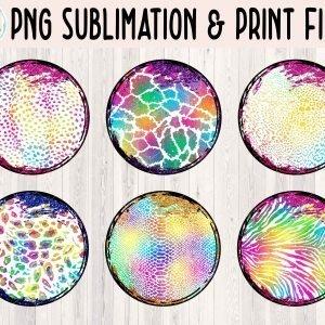 Grunge Circle Animal Print Bundle 2 Mockup Etsy 3