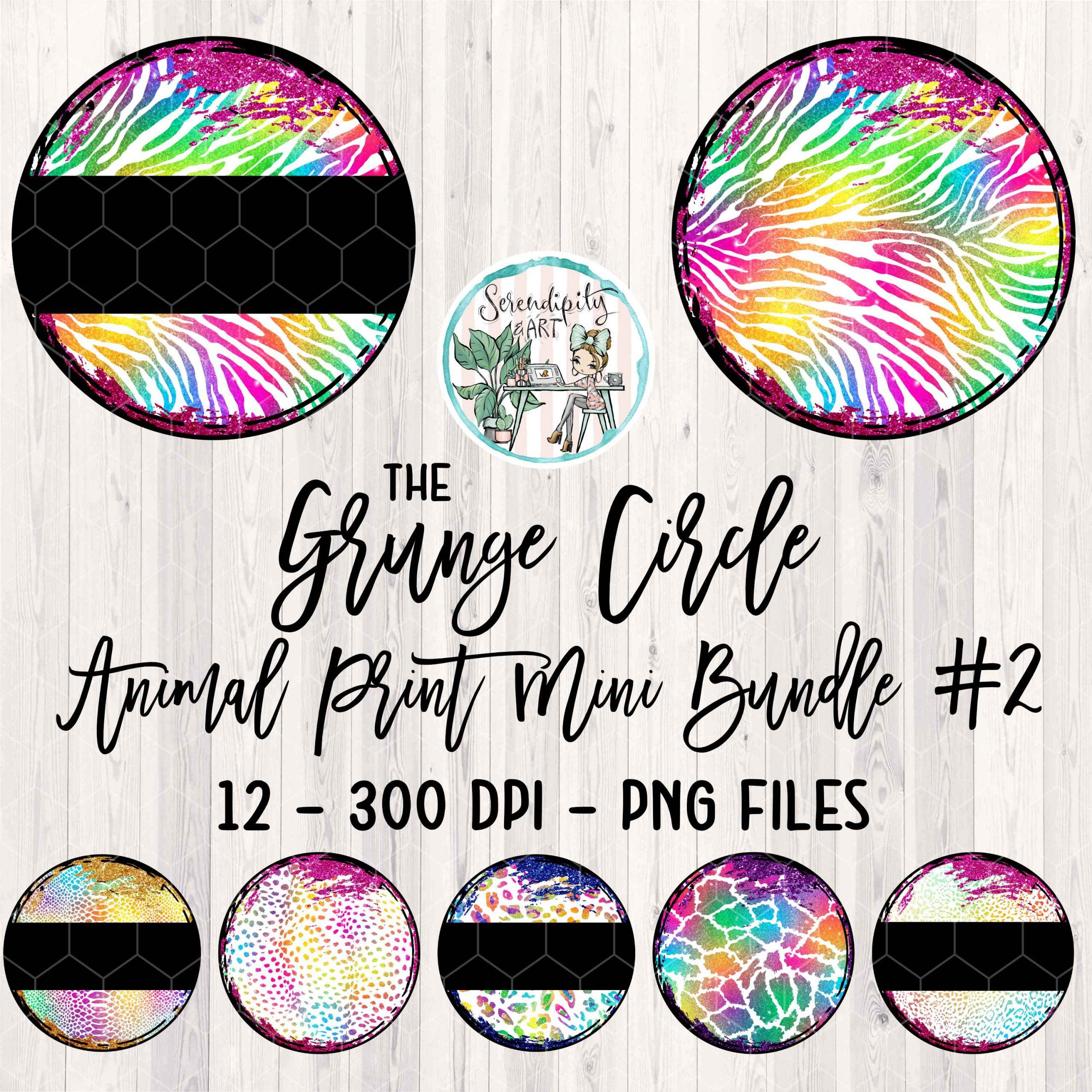 Grunge Circle Animal Print Bundle 2 Mockup Square
