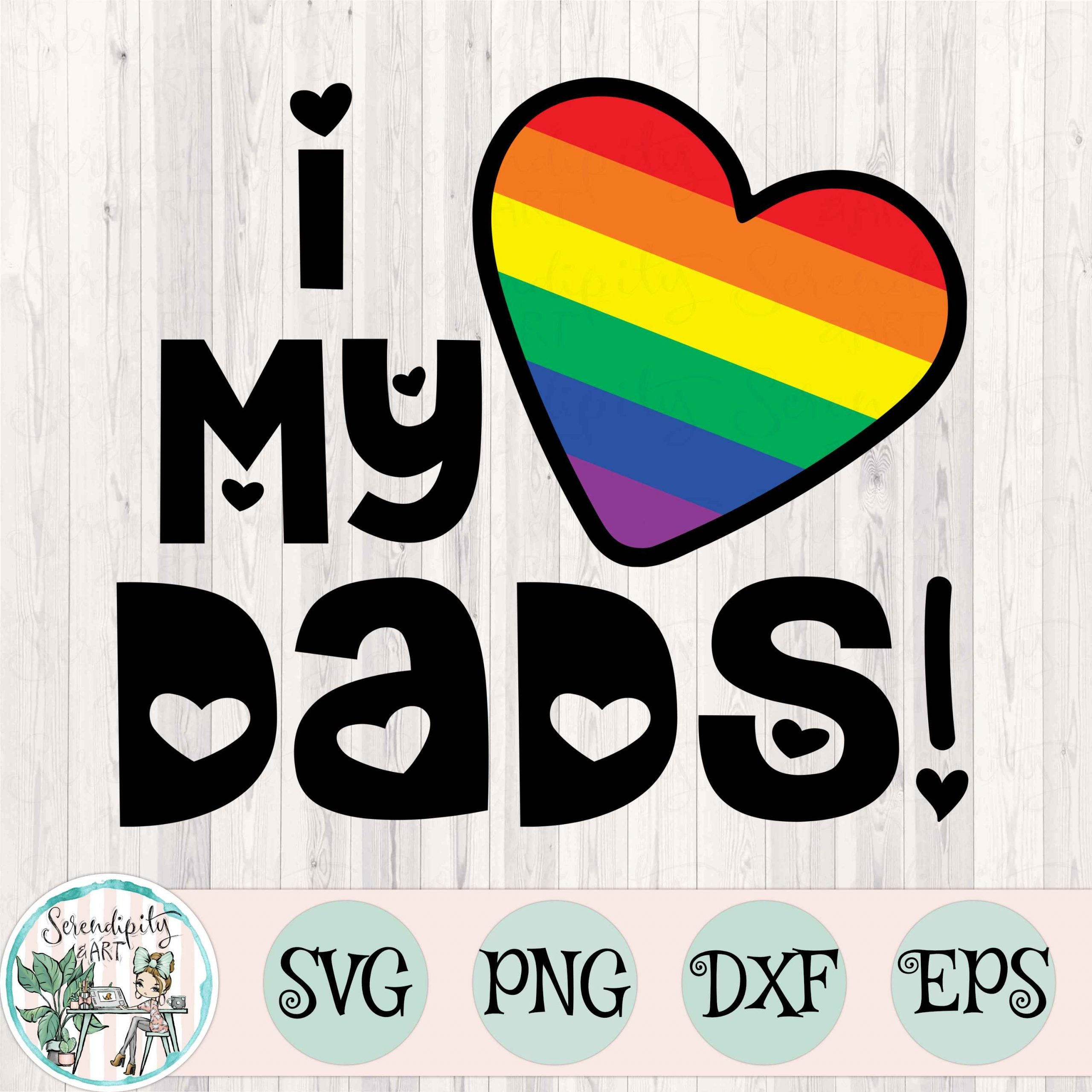 I Love My Dads Mockup Square
