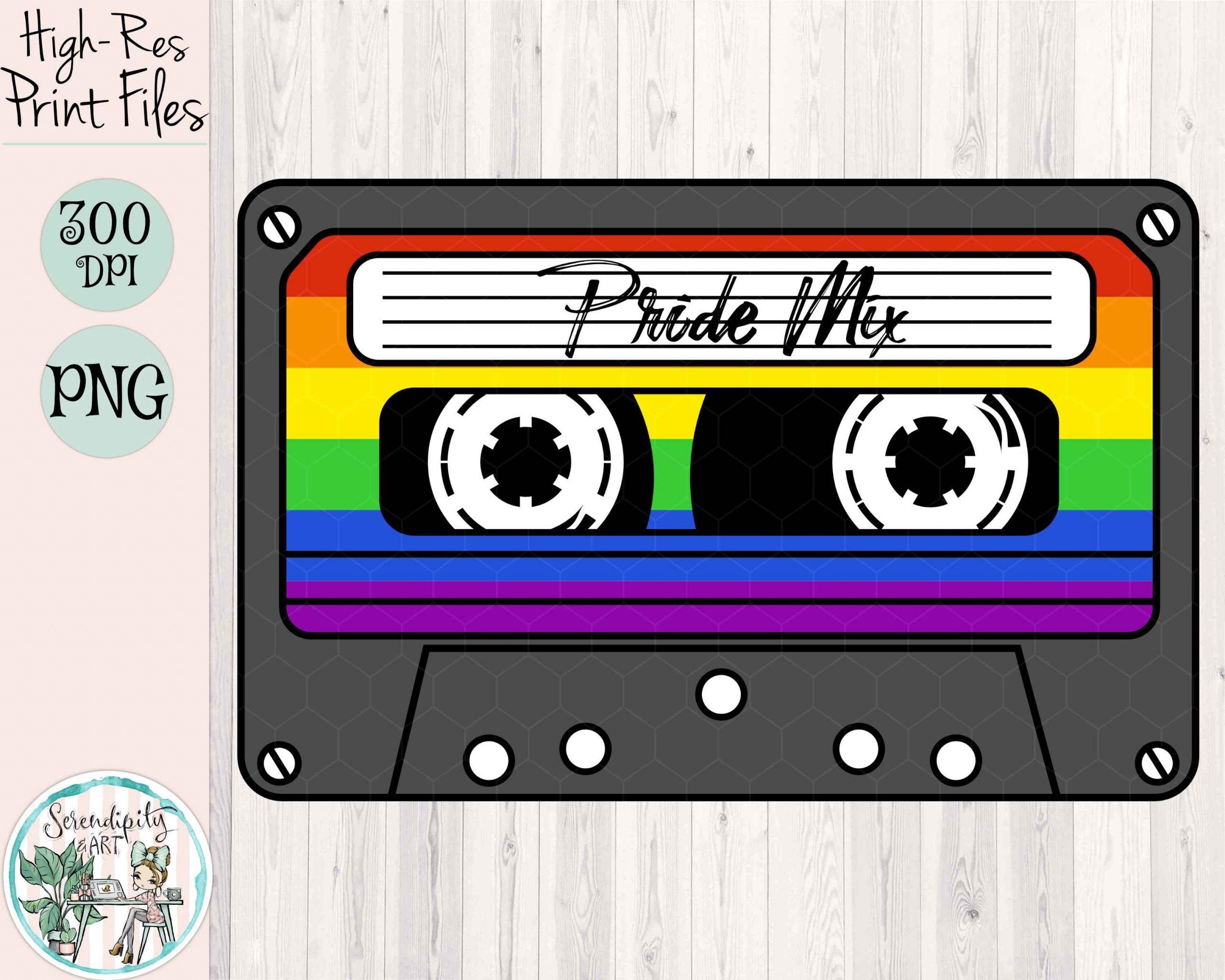 Pride Mix Tape Mockup