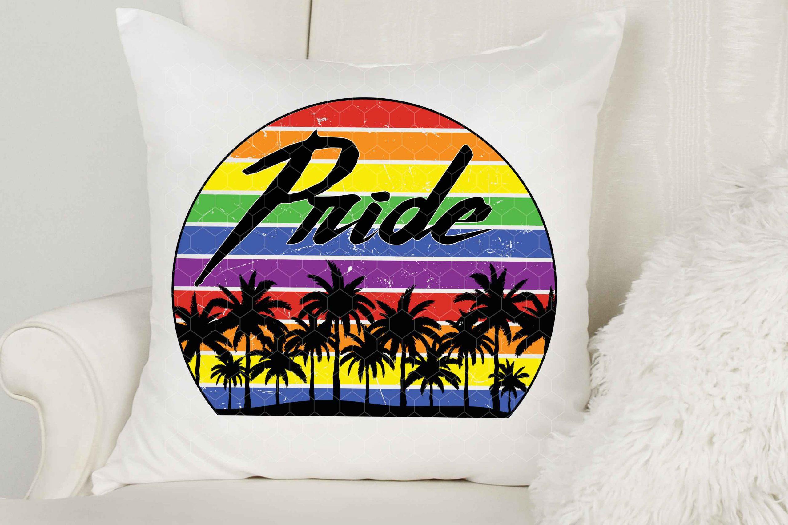Pride Retro Grunge Sunset Mockup 2