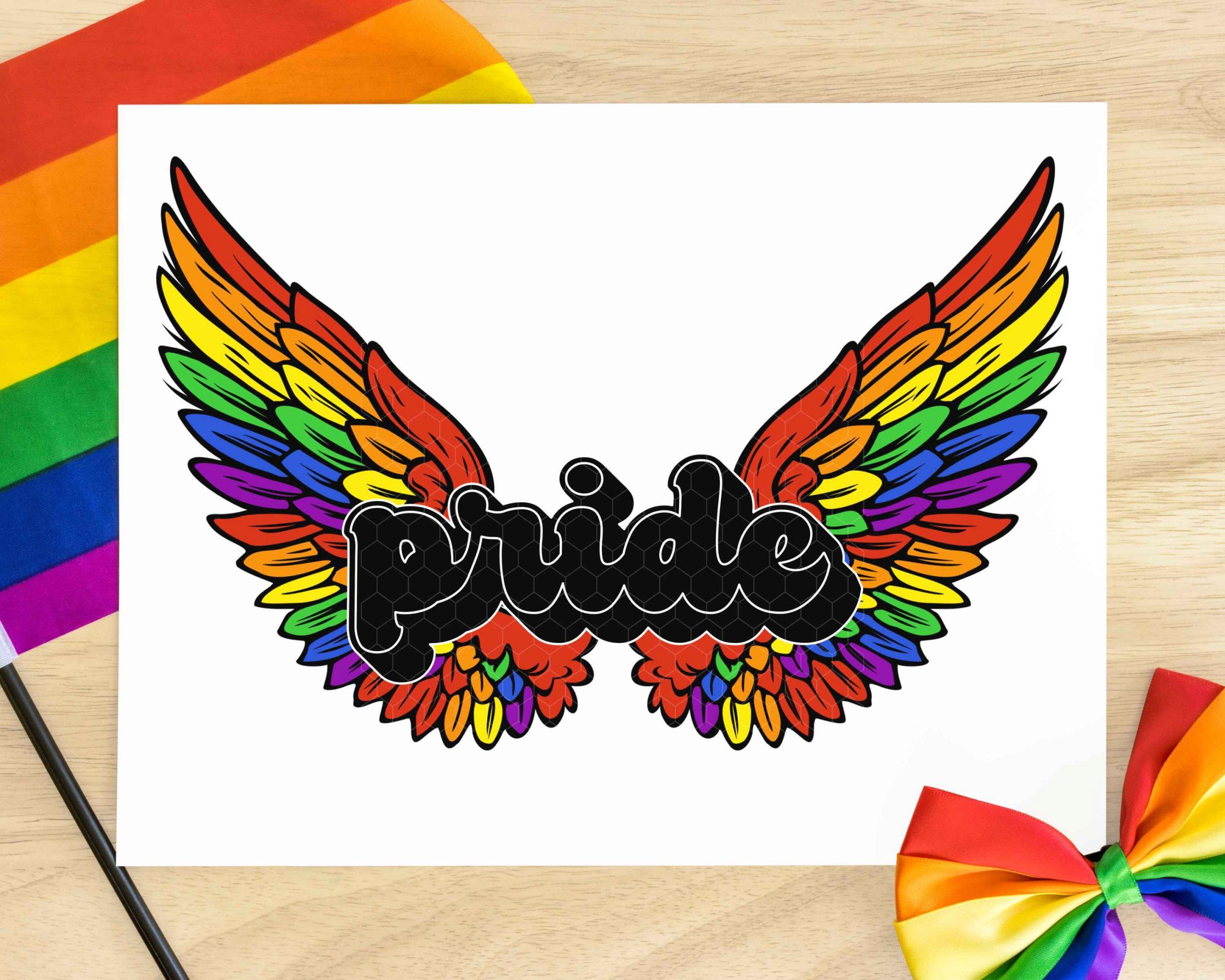The Pride Wings Bundle Mockup 5