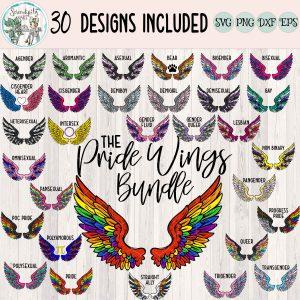 The Pride Wings Bundle Mockup Square