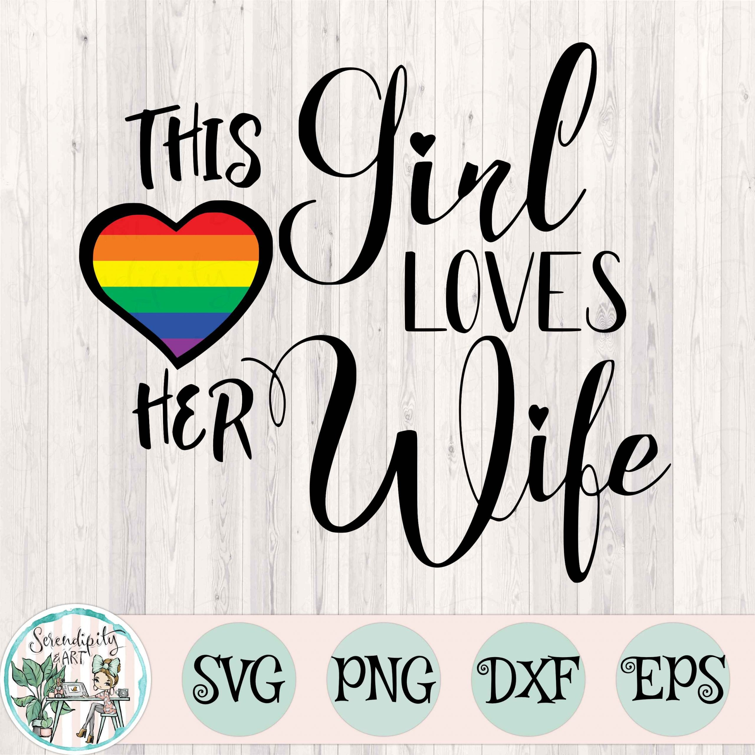 This Girl Loves Her Wife Mockup Square